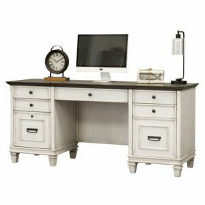 Meja Kantor Modern Putih Minimalis