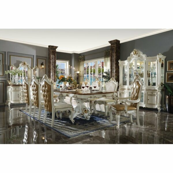 Meja Makan Mewah Duco Putih 8 Kursi