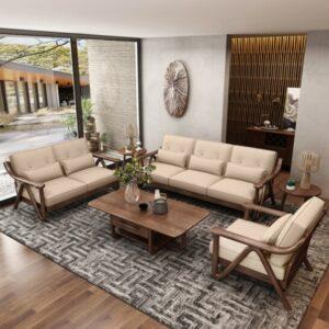 Sofa Kayu Minimalis Modern Unik