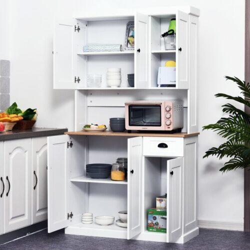 Lemari Dapur Kayu Warna Putih