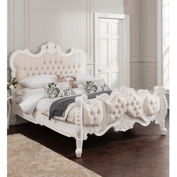 Tempat Tidur Racoco Mewah Putih