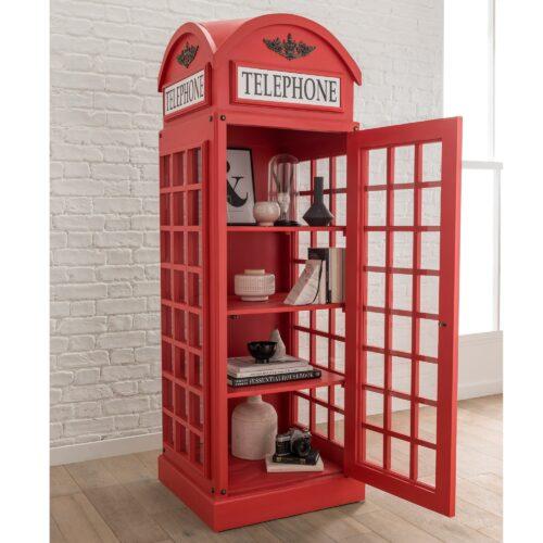 Lemari Hias Telepon Merah
