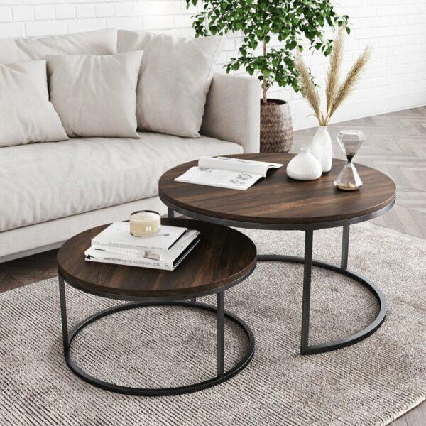 Meja Coffee Table Bundar Maywood