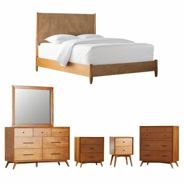 Set Kamar Tidur Minimalis Modern Jati