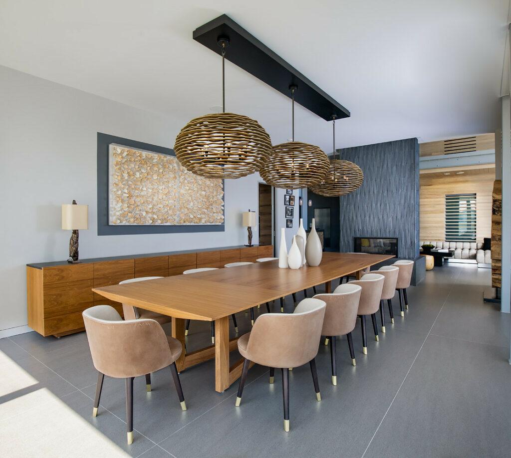 Dekorasi ruang makan mewah