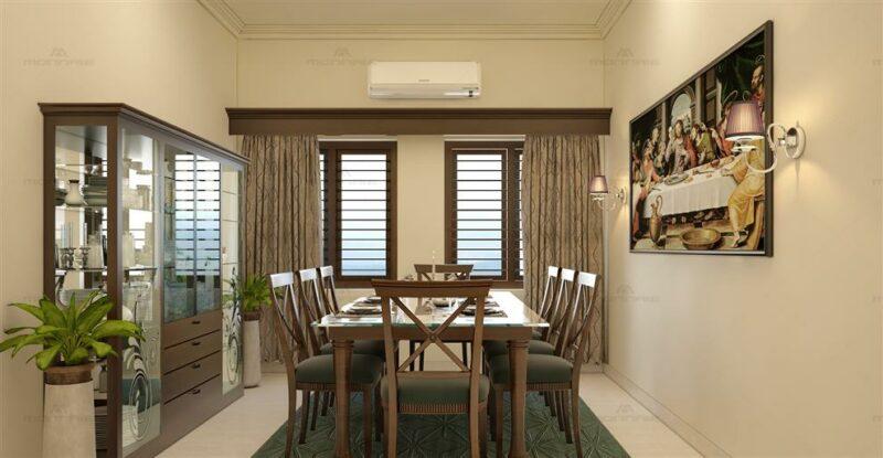 dekorasi ruang makan sederhana