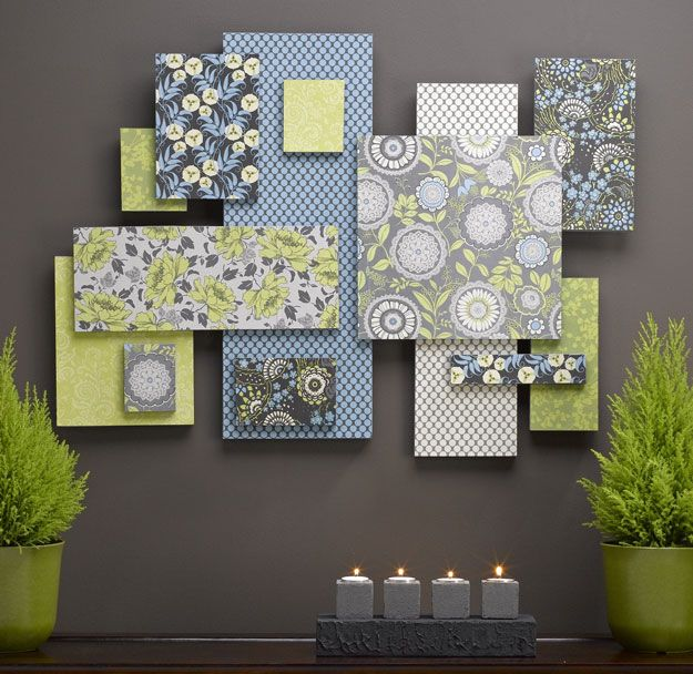 Hiasan dinding kamar dengan bahan styrofoam