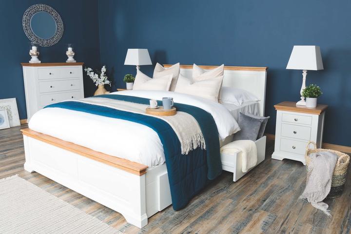 Tempat Tidur Minimalis Westcoot White King